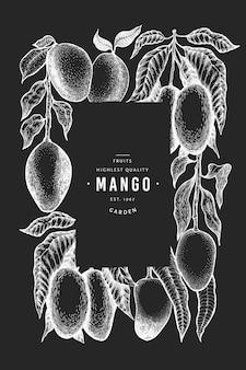 Mango sjabloon voor spandoek