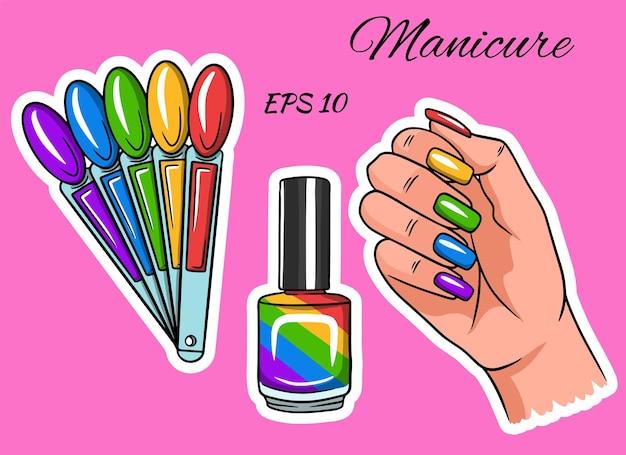 Manicure. hand met gelakte nagels.