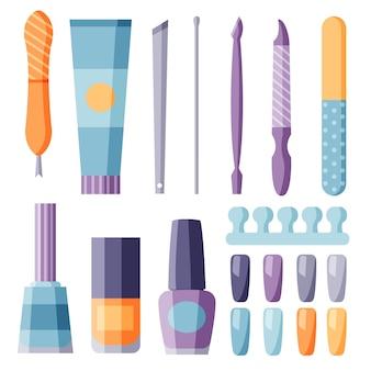 Manicure tools ingesteld