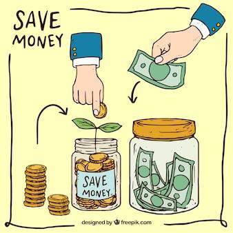 Manieren om geld te besparen