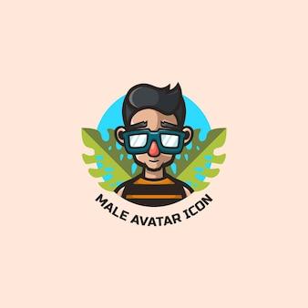 Mannelijk avatar-logo