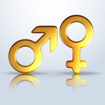 Mannelijk en vrouwelijk geslachtssymbool.