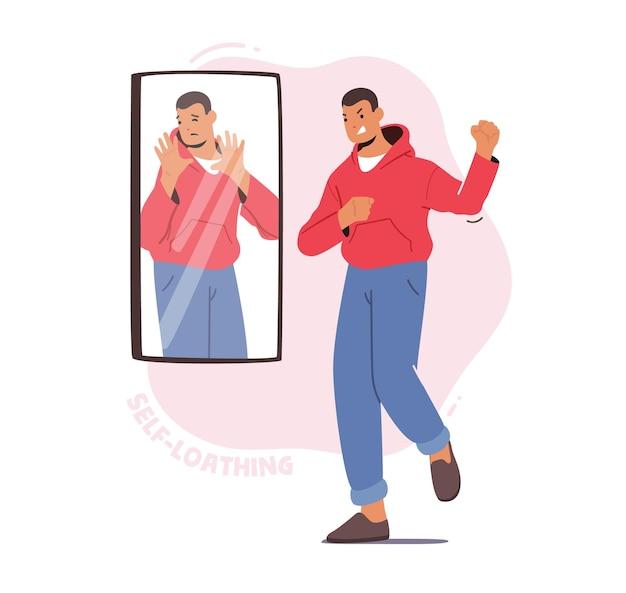 Mannelijk karakter heeft psychologische hulp nodig, geestgezondheidsprobleem