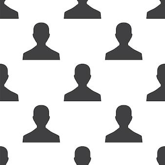 Mannelijk profiel, vector naadloos patroon, bewerkbaar kan worden gebruikt voor webpagina-achtergronden, opvulpatronen