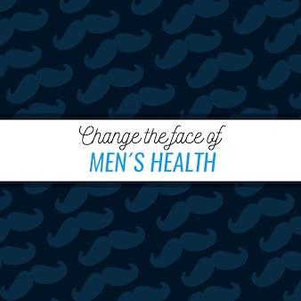 Mannelijk snorpatroon met tekst