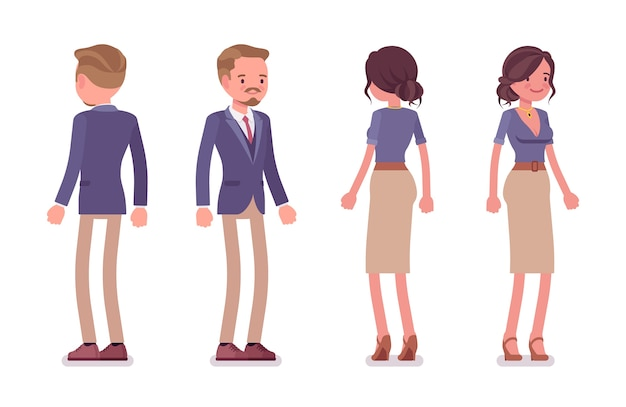 Mannelijke en vrouwelijke secretaris
