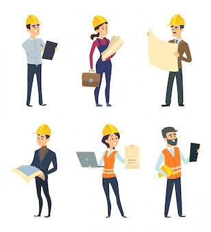 Mannelijke en vrouwelijke werknemers van ingenieurs en andere technicusberoepen