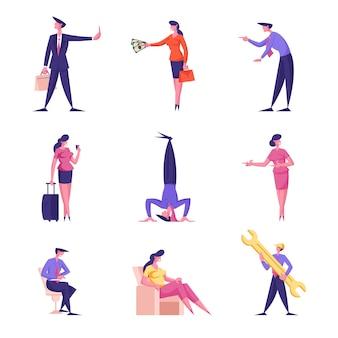 Mannelijke en vrouwelijke zakenmensen weigeren omkoping aan te nemen