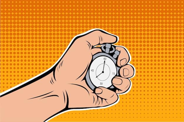Mannelijke hand met chronometer