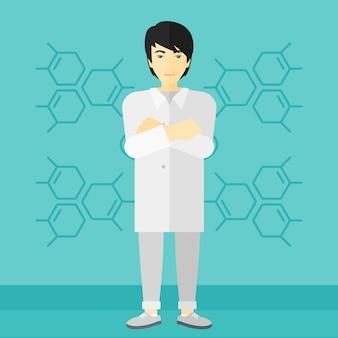 Mannelijke laboratoriumassistent