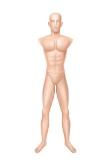 Mannelijke mannequin, oefenpop voor kledingwinkel.