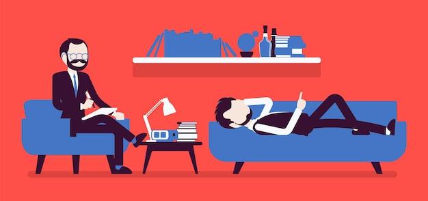 Mannelijke psychiater raadplegen