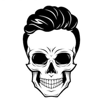 Mannelijke schedel illustratie