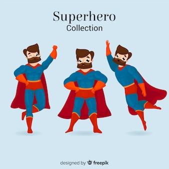 Mannelijke superheld-collectie