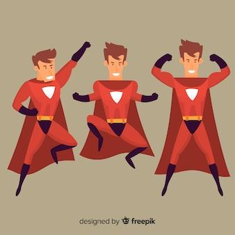 Mannelijke superheld ingesteld