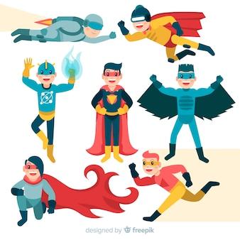 Mannelijke superheld-verzameling
