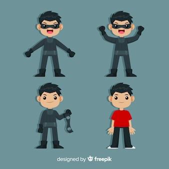 Mannelijke superheldenset