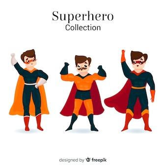 Mannelijke superheldinzameling in beeldverhaalstijl