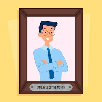 Mannelijke werknemer van het maandconcept