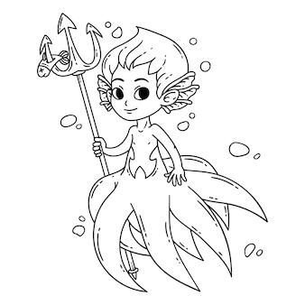 Mannelijke zeemeermin.