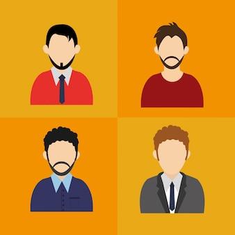 Mannen anoniem avatar pictogrammen afbeelding
