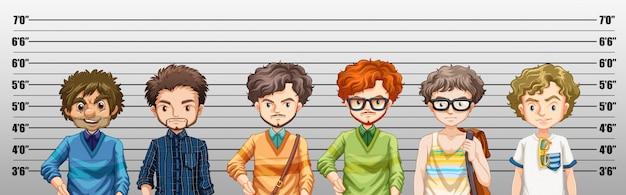 Mannen die verdacht worden van misdaad