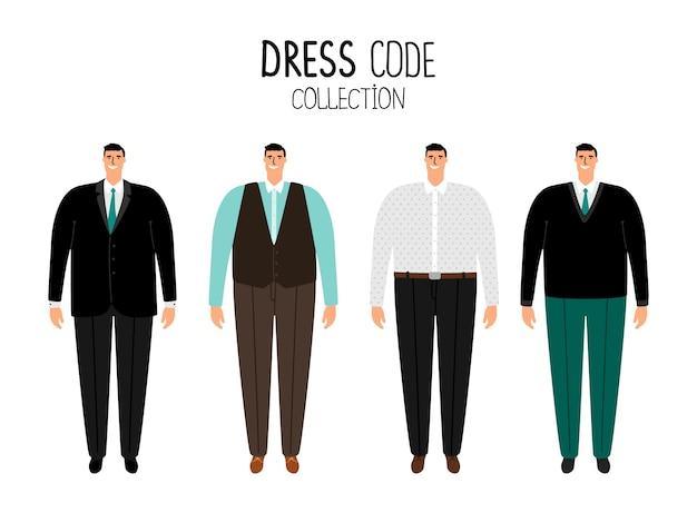 Mannen formele kledingvoorschriften
