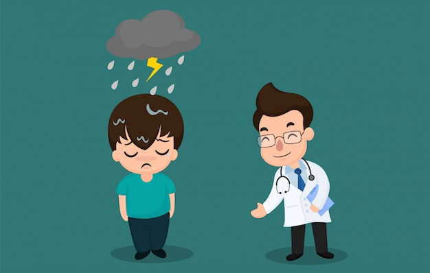 Mannen met bipolaire symptomen