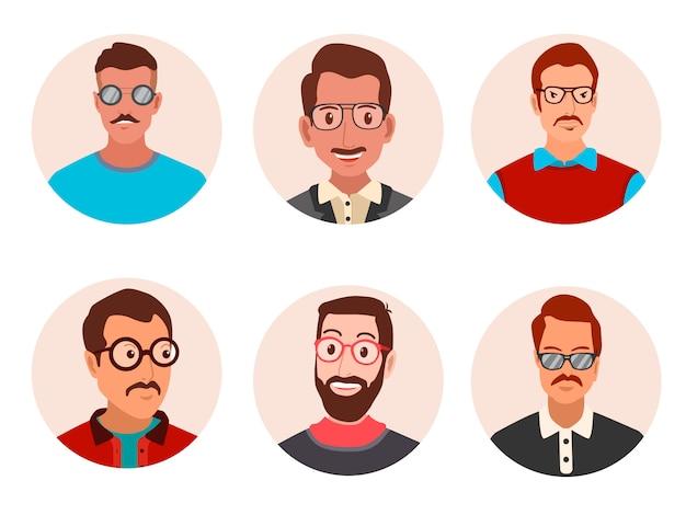 Mannen met glazen avatar