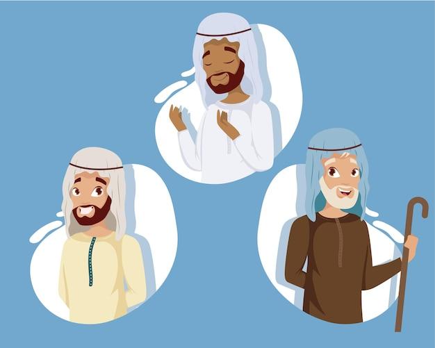 Mannen moslim karakters