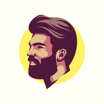 Mans hoofd avatar vector