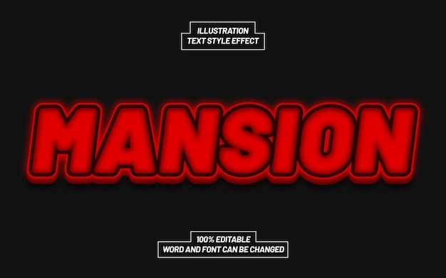 Mansion bold text style effect