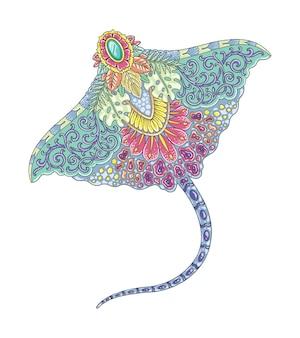Manta kleurrijk mandala-ontwerp