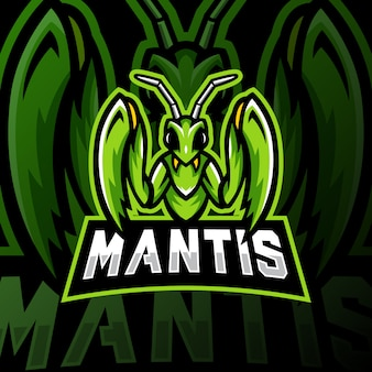 Mantis mascotte logo esport gaming illustratie