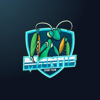 Mantis met mascotte-logo