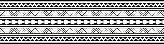 Maori polynesische tattoo armband. tribal mouw naadloze patroon vector.