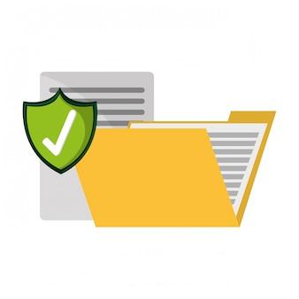 Map met documenten beschermd