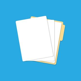 Map met papieren lijsten