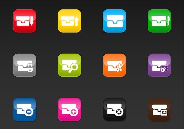 Map vector iconen voor gebruikersinterface ontwerp