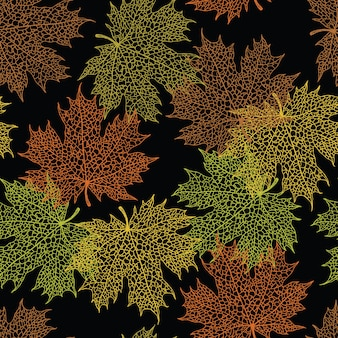 Maple leaf dark background