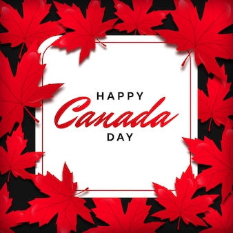 Maple leaf frame voor canada day