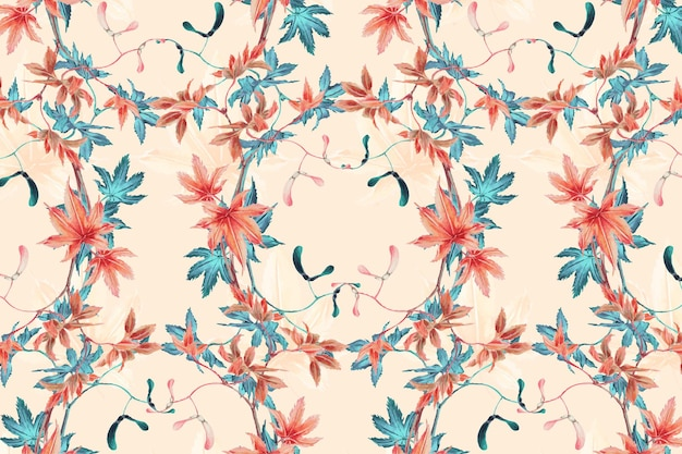 Maple leaf patroon achtergrond, remix van kunstwerken van megata morikaga