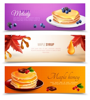 Maple siroop banners set