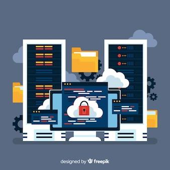 Mappen hosting service achtergrond