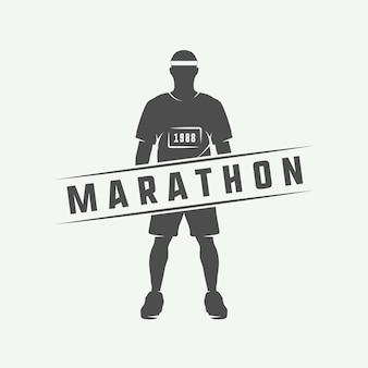 Marathon of logo uitvoeren