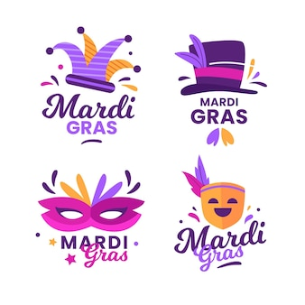 Mardi gras badge-collectie