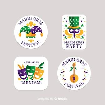 Mardi gras-badgecollectie
