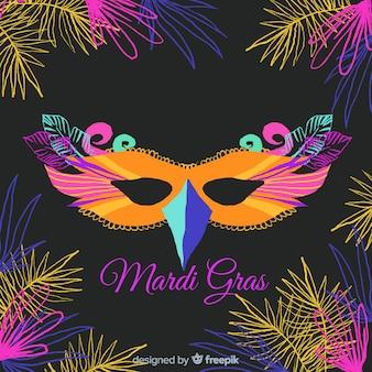 Mardi gras carnaval achtergrond