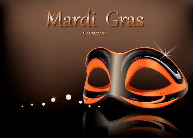Mardi gras carnaval masker