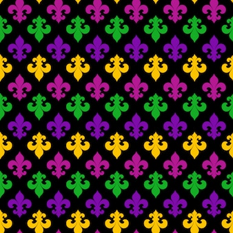 Mardi gras carnival naadloze patroon